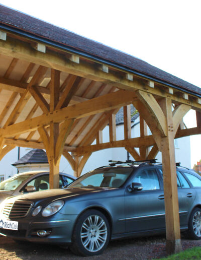 Green Oak 2 Bay Carport