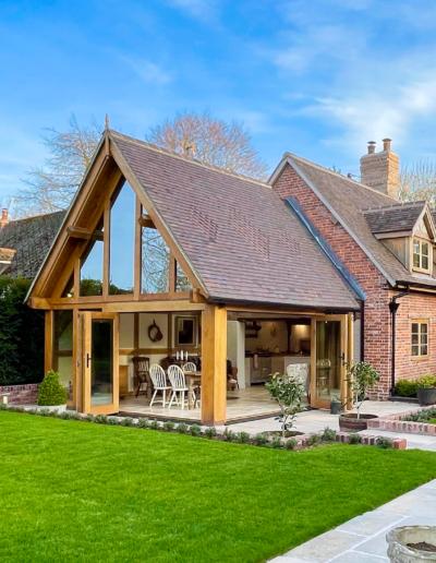 glazed Gabel oak garden room