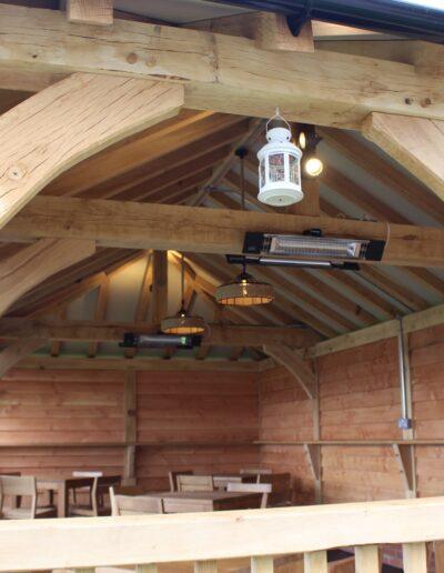 Oak Gazebo interior
